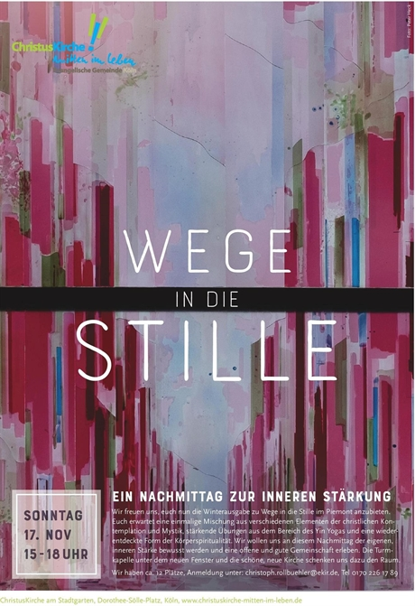"""Wege in die Stille"" in der Turmkapelle"